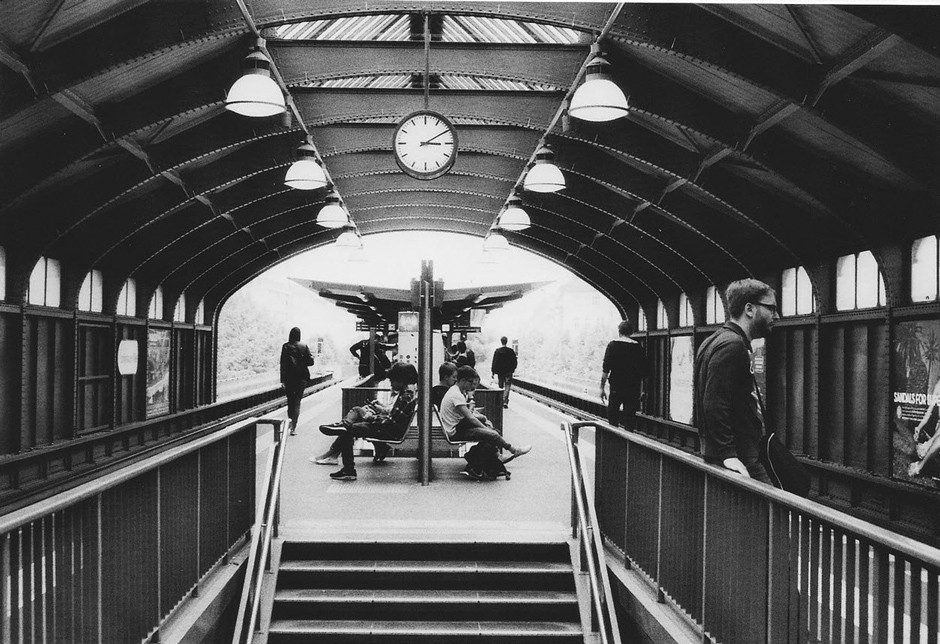 symmetric train station