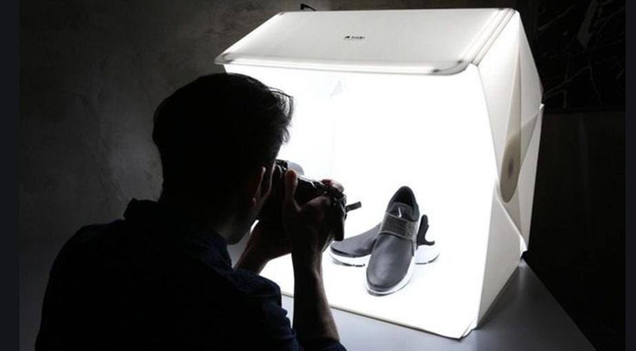 folding light box product photography