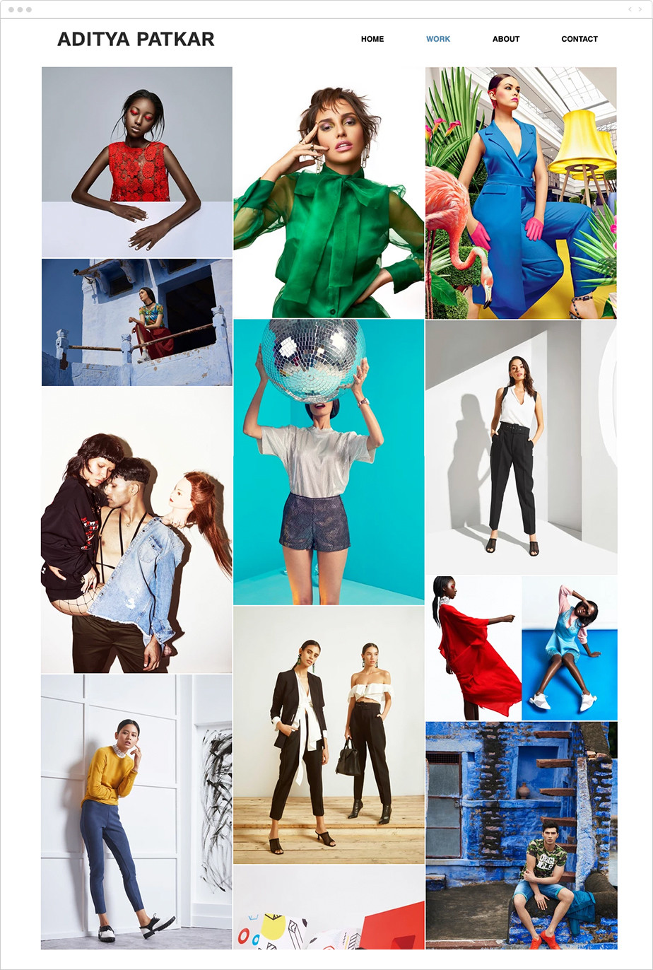 colorful fashion photography portfolio