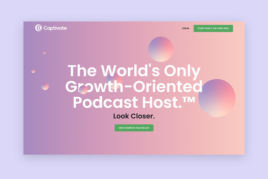 Captivate growth-oriented best podcast hosting website