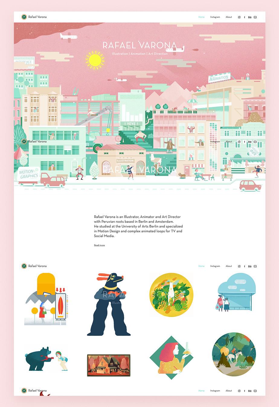 Rafael Varona Wix animation portfolio example