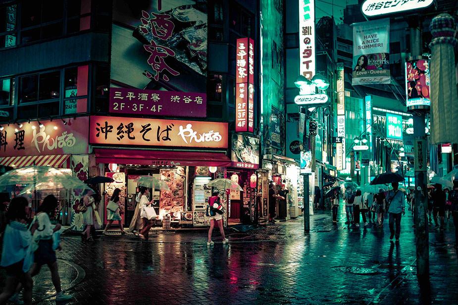 japan street light colors