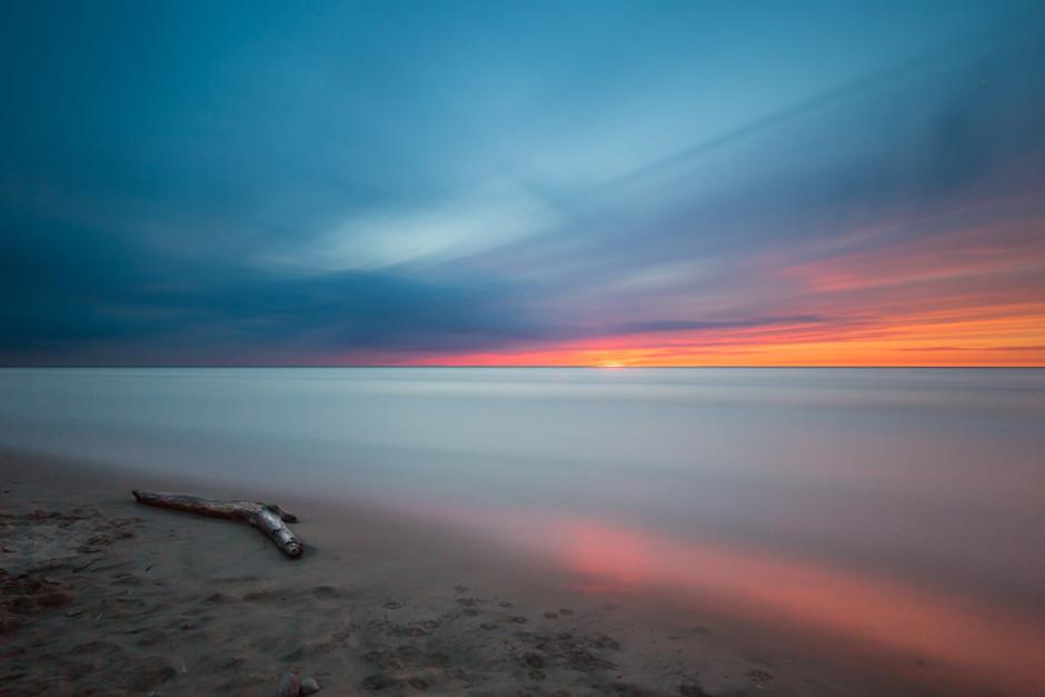 long exposure photography beach sunset