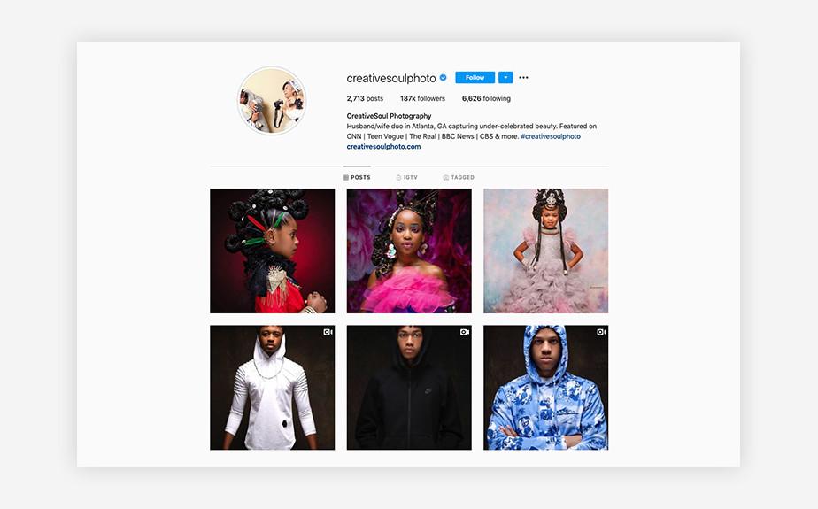CreativeSoul Photography portrait photographers Instagram account