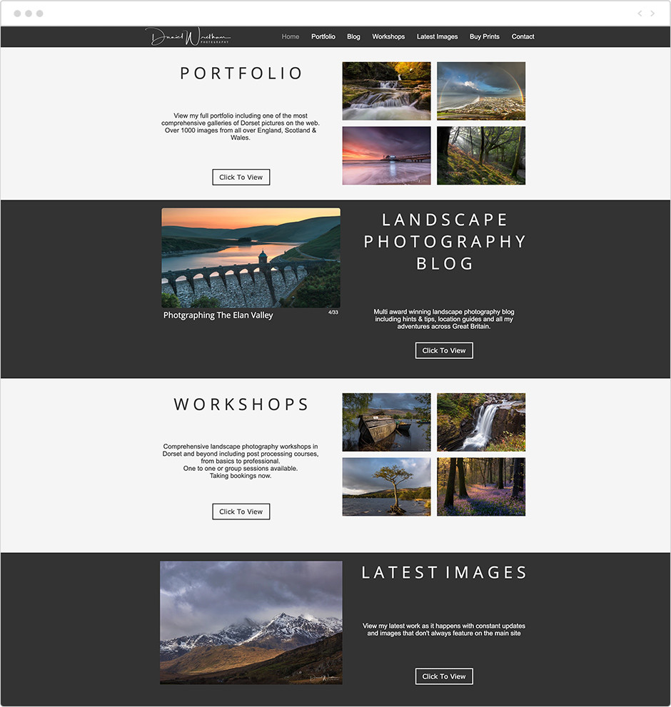 daniel wretham landscape photography website