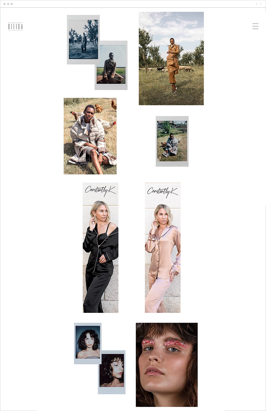minimalist fashion photography portfolio
