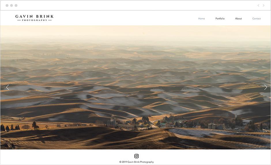 gavin brink landscape photography website