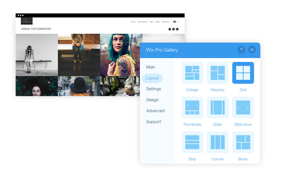 Wix Pro Gallery: Display your photos in striking quality
