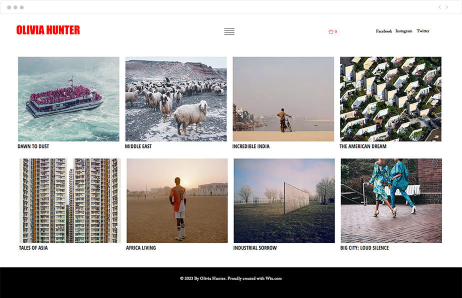 photojournalism website template