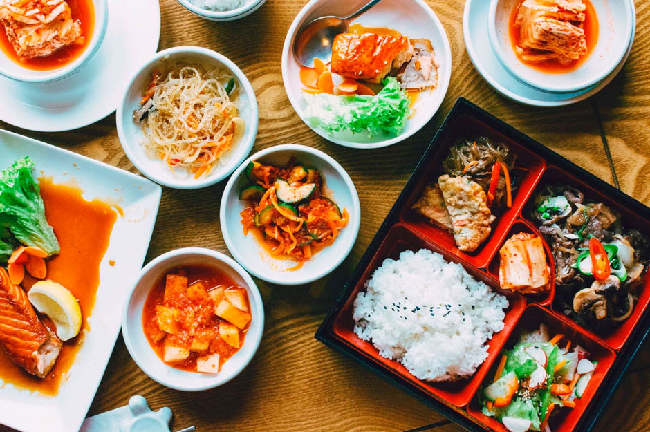 colorful Asian food photography