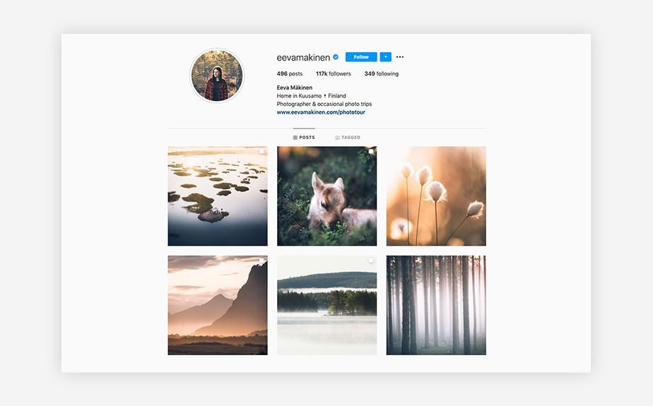 Eeva Mäkinen nature photography Instagram
