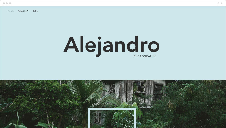 Nature Photographer Portfolio Website Template