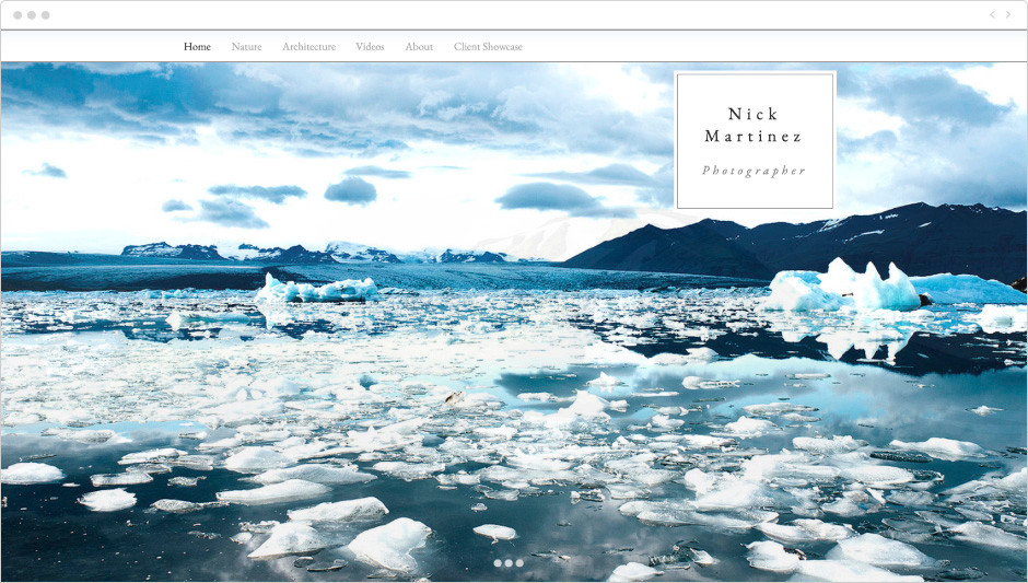 Photography Showcase Website Template