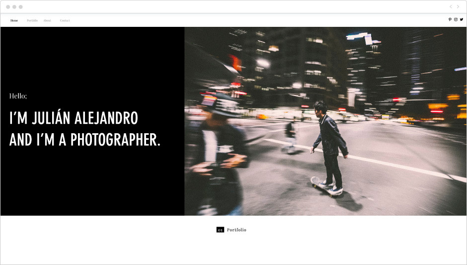 Life Photographer Portfolio Website Template