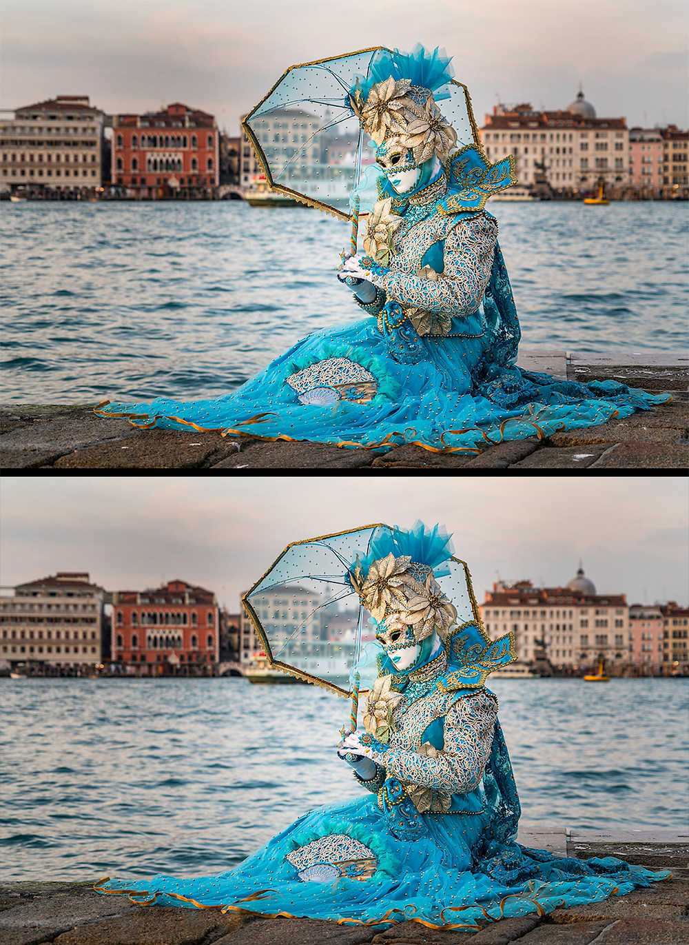 spot remover before and after venice mask festival portrait