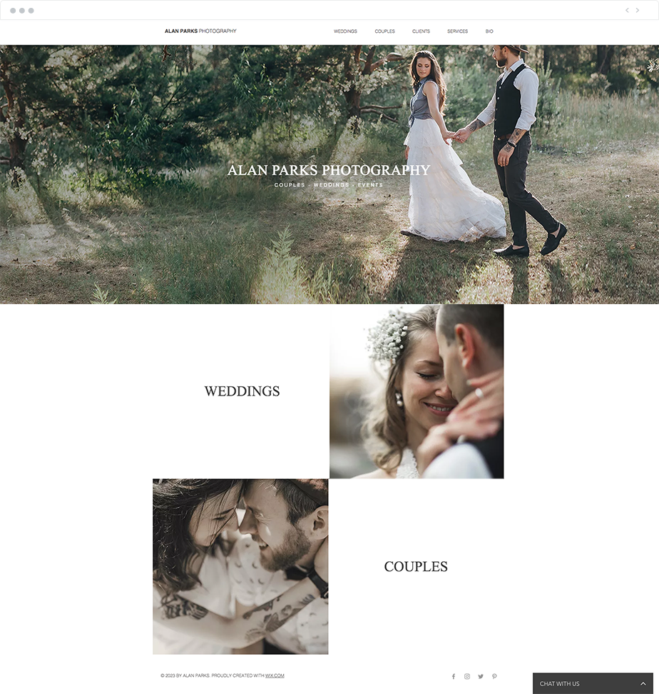 couples photography website template
