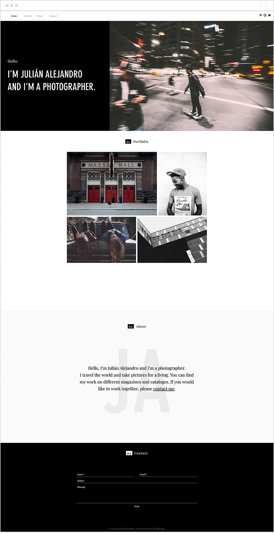 life photographer portfolio template
