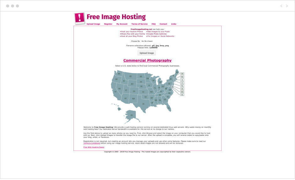 free image hosting site for businesses