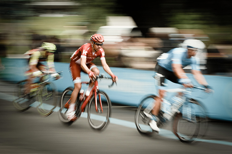 long exposure photography sports cycling