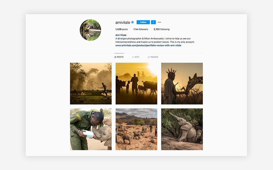Ami Vitale Instagram photographers for wildlife conservation