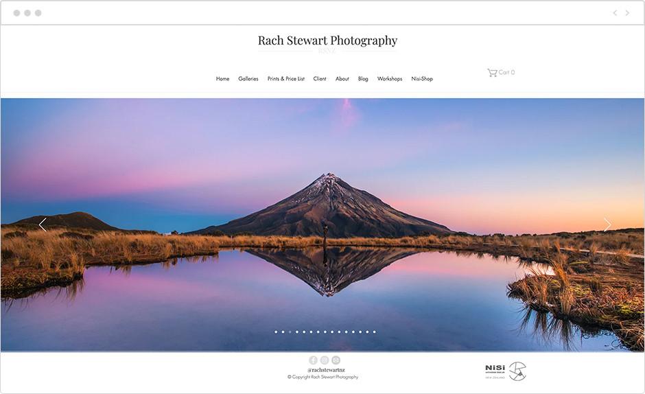rach stewart landscape photography website