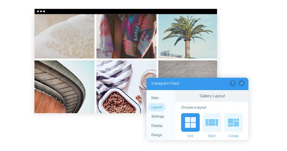 Instagram Feed: Showcase your latest work