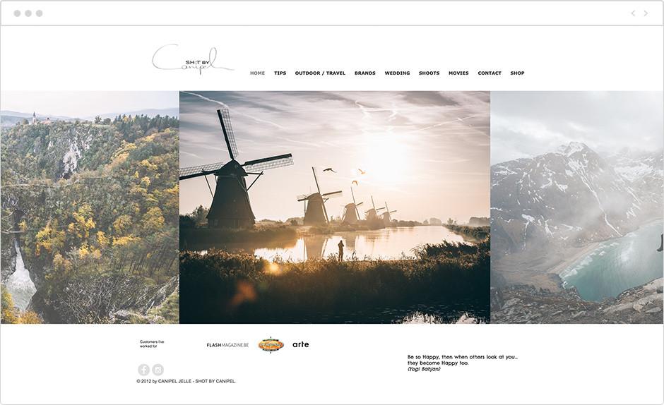 jelle canipel landscape photography website