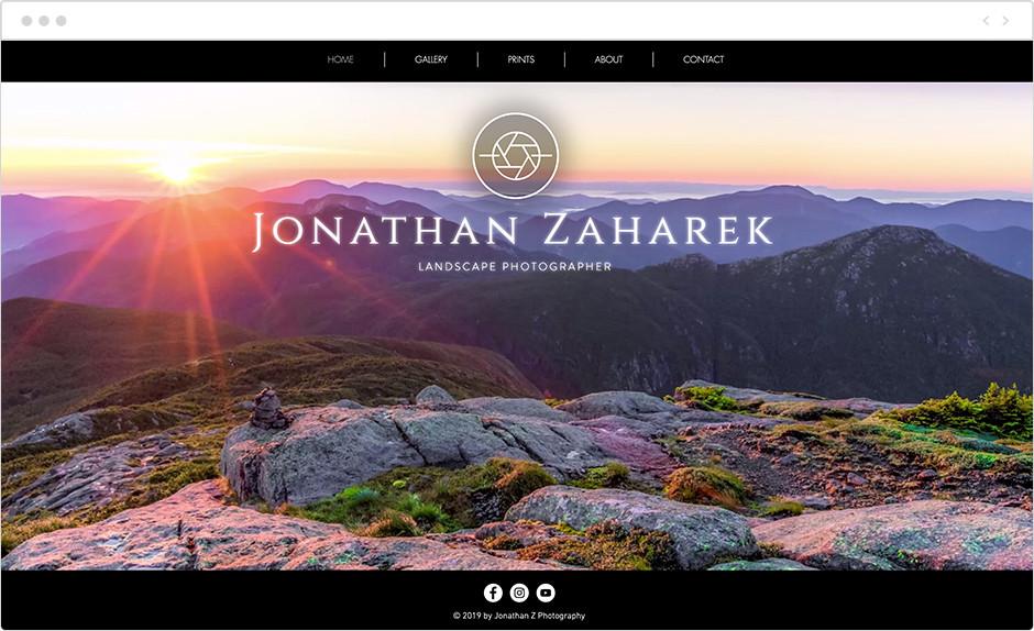 jonathan zaharek landscape photography website