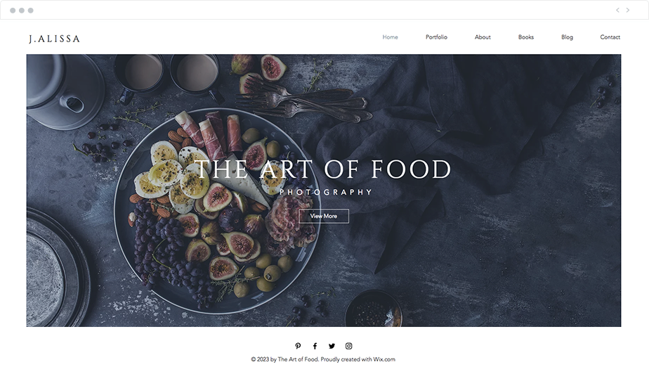food photography website template
