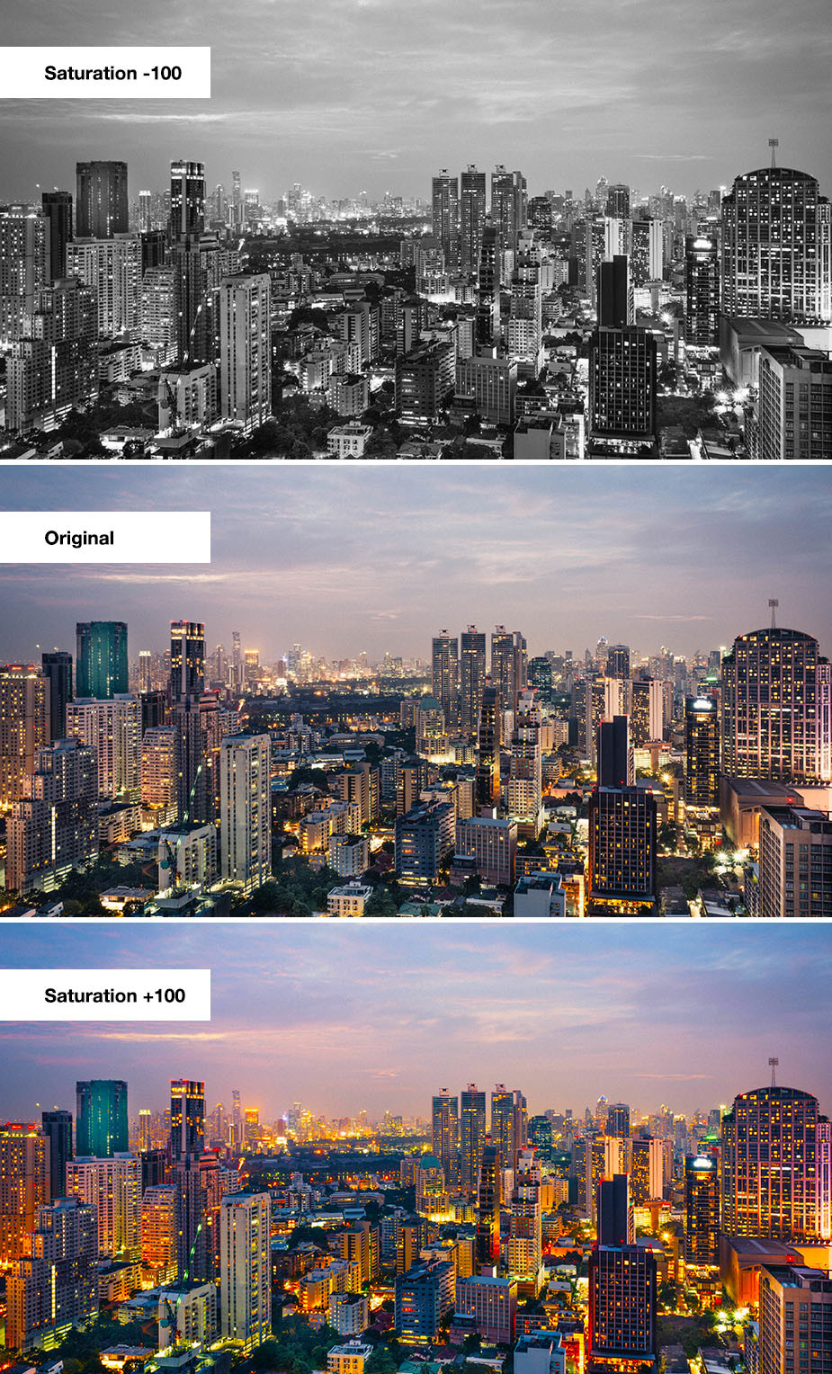 example of how saturation in photography works