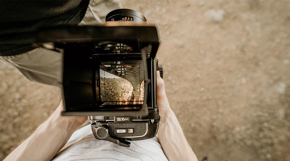 bridge seen from open medium format camera