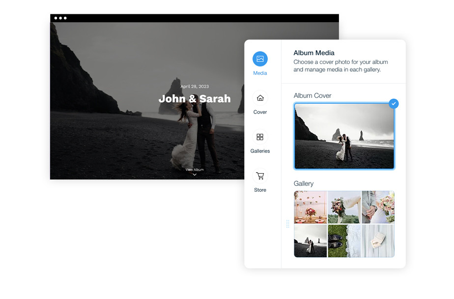 Wix Photo Albums: Share images with your clients
