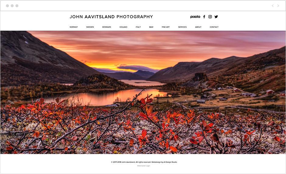john aavitsland landscape photography website