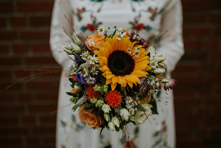 wild flowers wedding bouquet