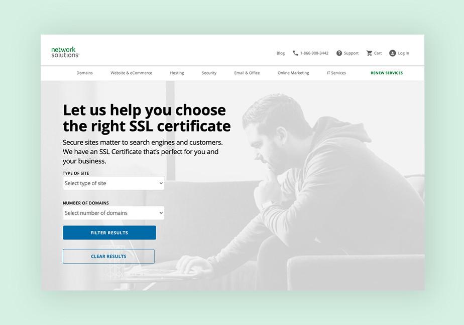Network Solutions - cheap SSL certificates