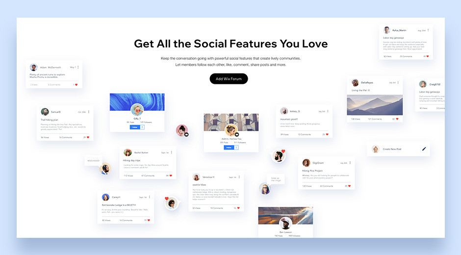 Wix Forum free software fully customizable
