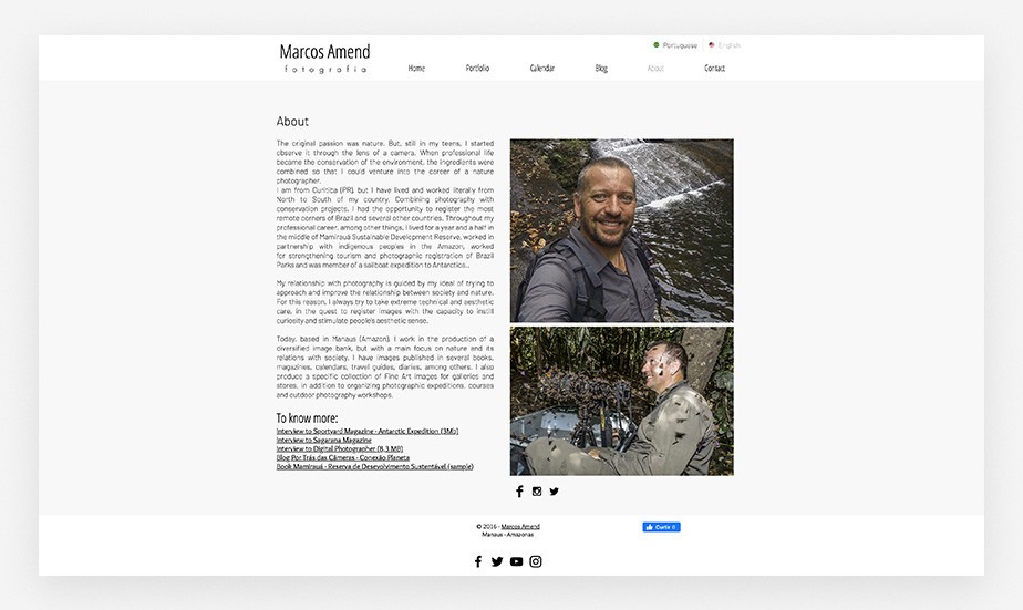 translate your photographer bio page for visitors all over the world