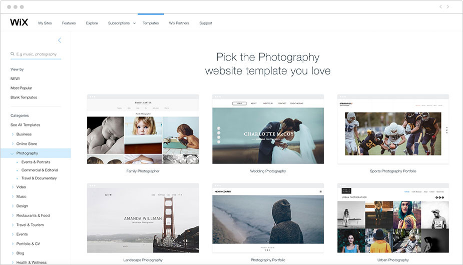 beautiful photography website templates