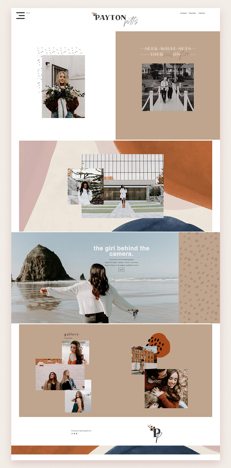 Payton Pitts photograpy website example