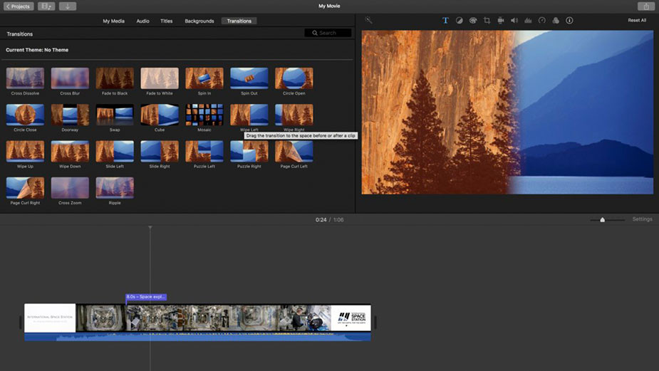 iMovie free mac video editing software