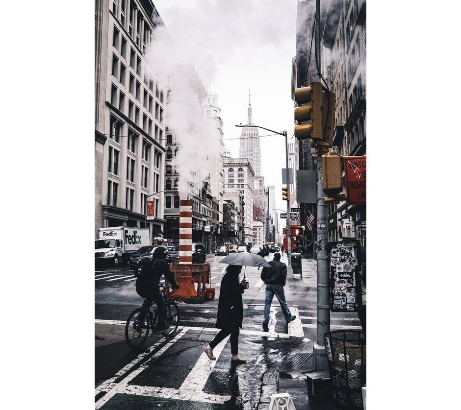 street photo of new york city on a rainy day