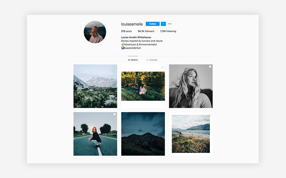 Louise Amelie Whitehouse portrait photography Instagram feed
