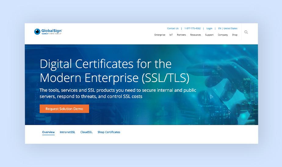 GlobalSign - best SSL certificate for enterprises
