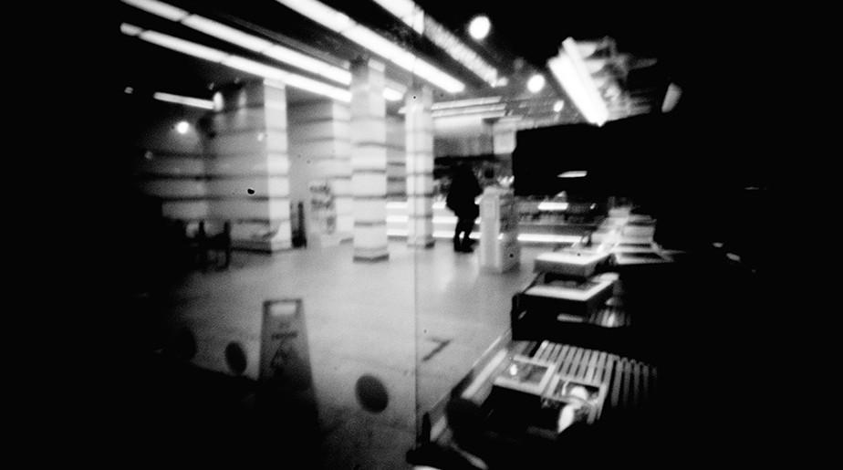 black and while pinhole photograph