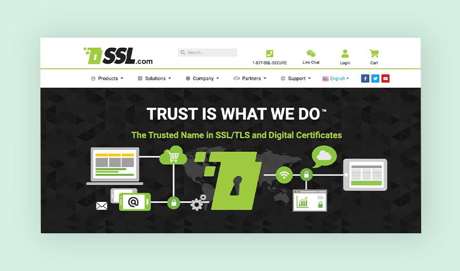 SSL.com - extensive SSL certificate provider