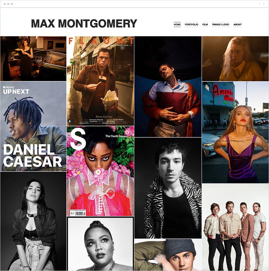 commercial photographer online portfolio
