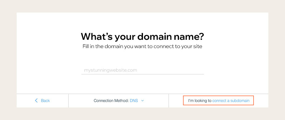 how to create a subdomain