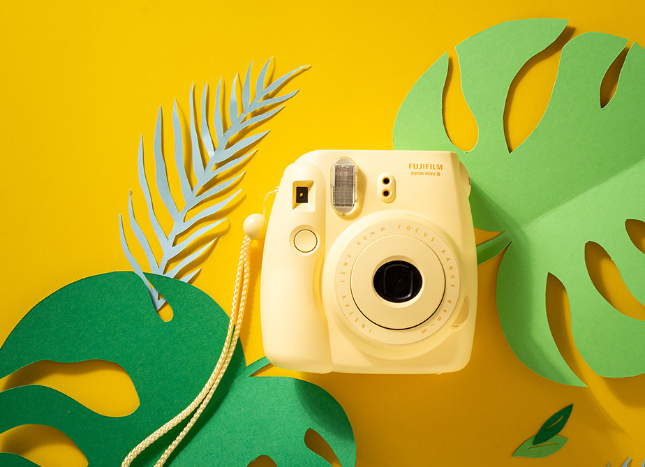 yellow fujifilm instant camera best gifts for photographers