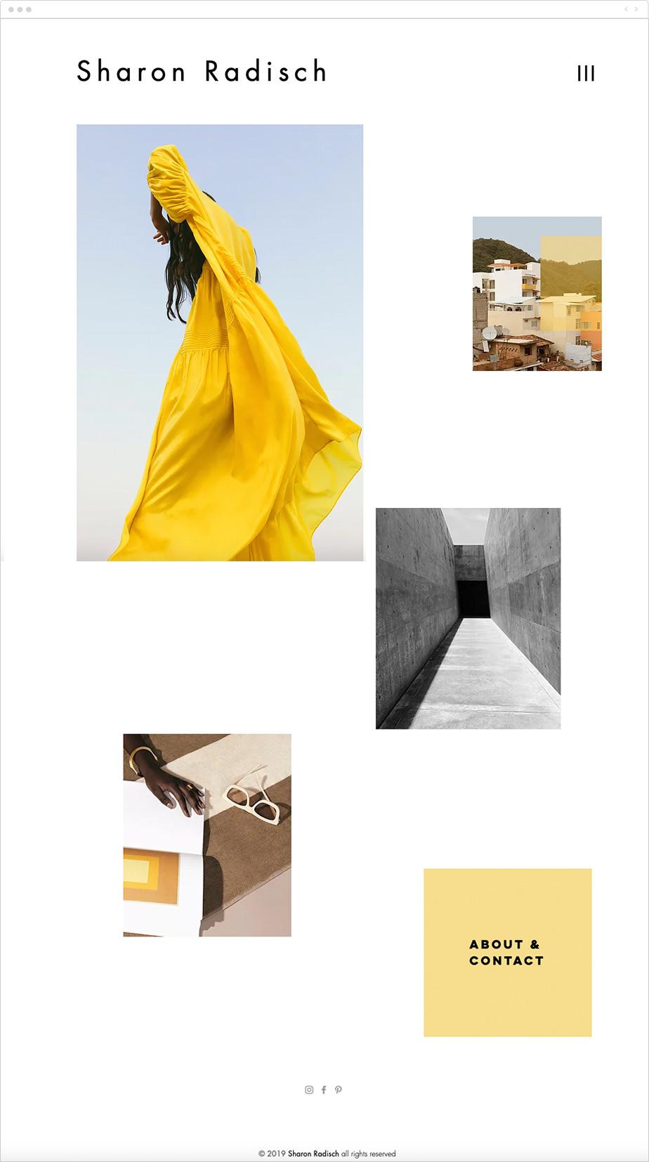 minimalist travel and product photography portfolio