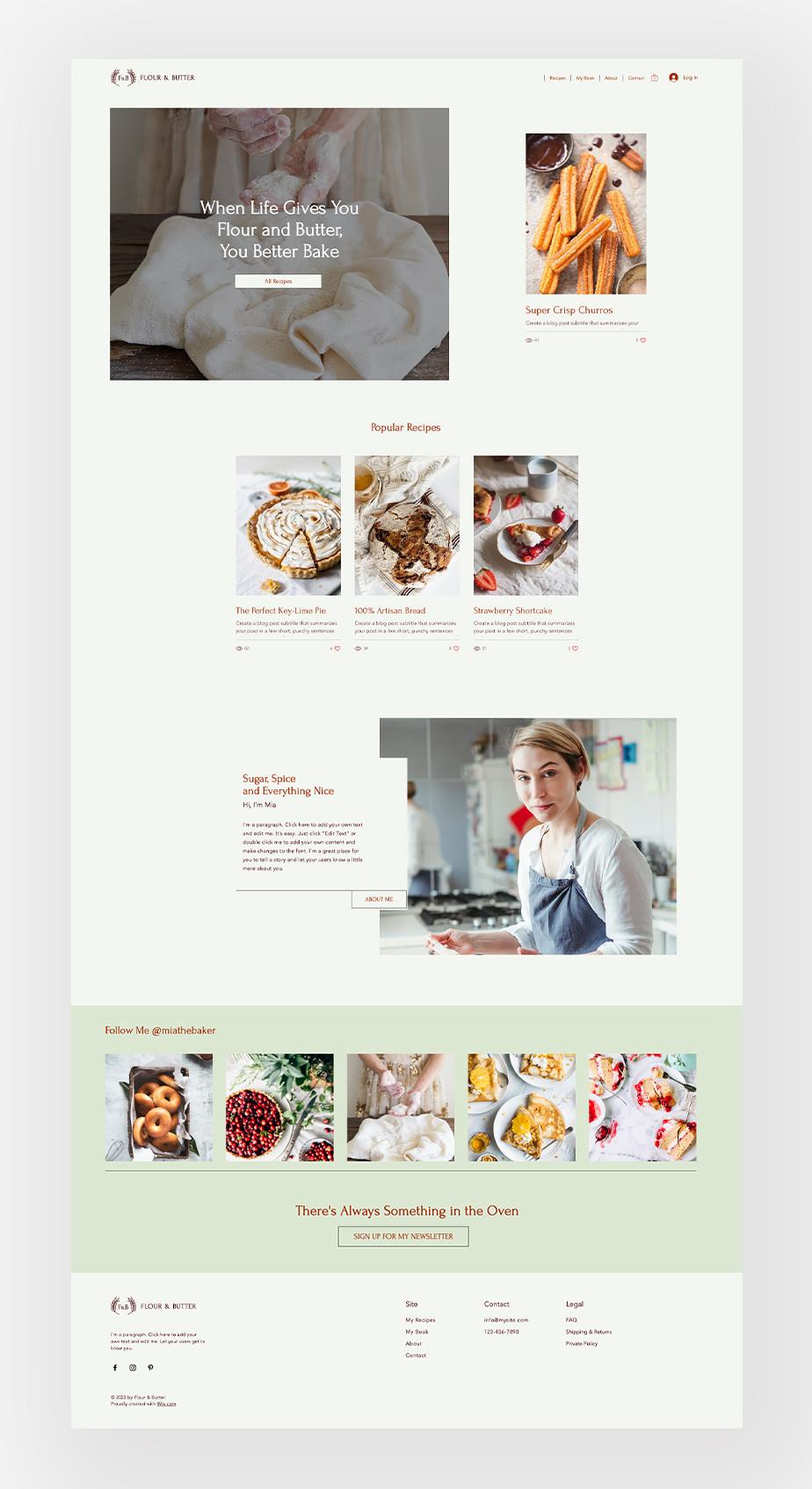 food blogging niche template